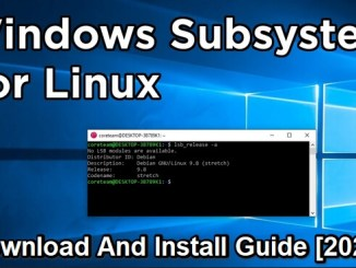 windows subsystem for linux app download and install