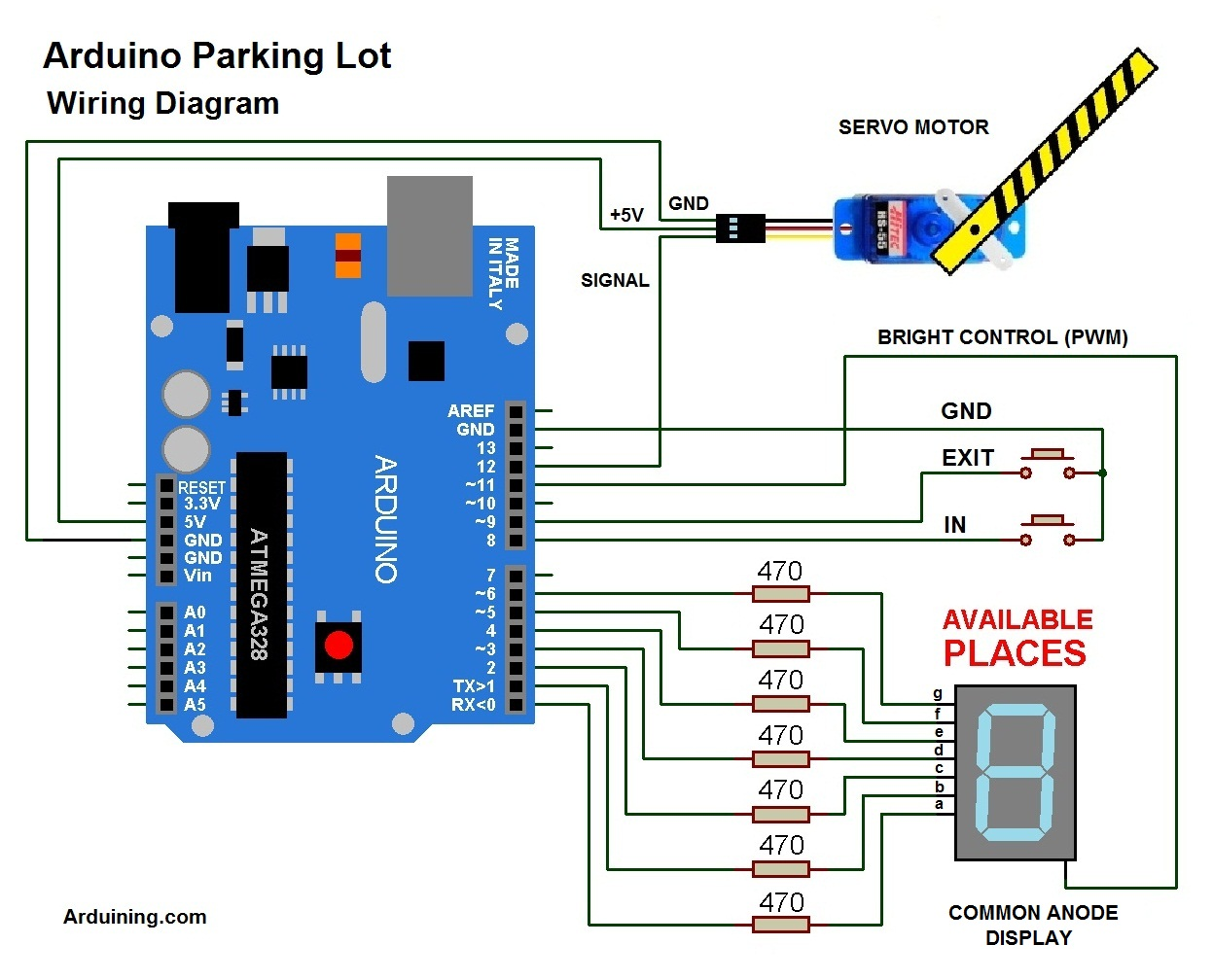 4 pole relay wiring diagram 2000 honda accord parts arduino parking lot ( filled ) – arduining