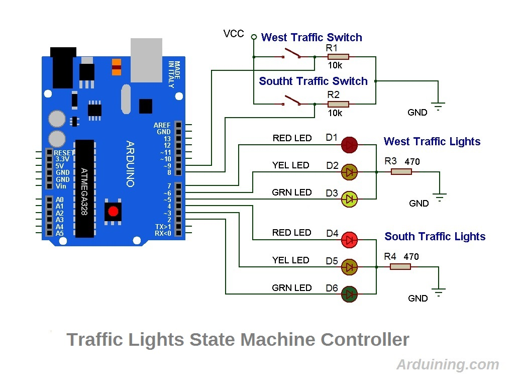 hight resolution of the wiring diagram with the arduino uno traffic light schematics4