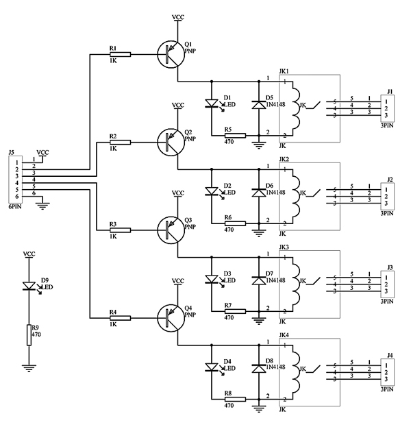 relay board schematic