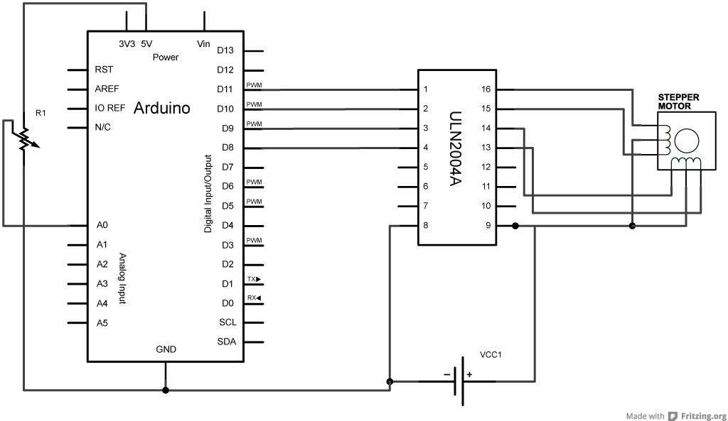 Schrittmotorsteuerung ULN2004 wird heiß