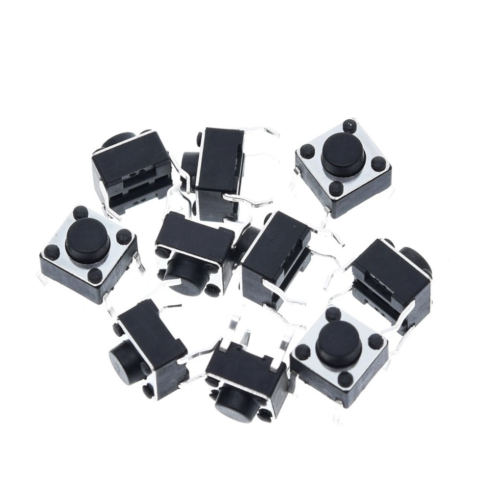 1pcs Tactile Switch Momentary Tact 6x6x5 6*6*5mm DIP Middle 4 pin ever