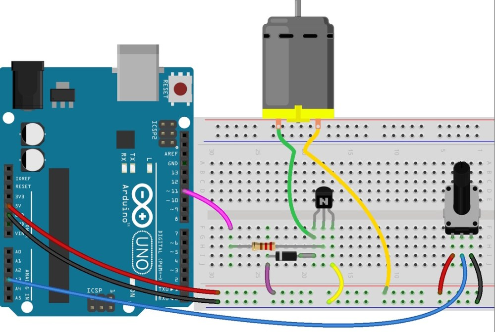 medium resolution of qty part 1 transistor bc547 or pn2222 1 potentiometer 10k 1 dc motor 6 9v 1 resistor 220
