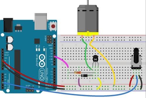 small resolution of qty part 1 transistor bc547 or pn2222 1 potentiometer 10k 1 dc motor 6 9v 1 resistor 220