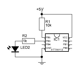 Flashing an LED with Attiny13: Timer, Watchdog timer and