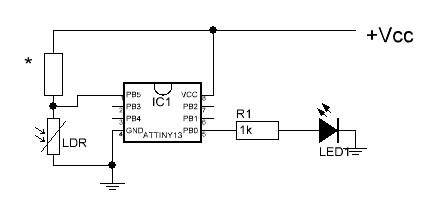 Schematic Diagram Of Attiny2313 Keyboard Interface Test
