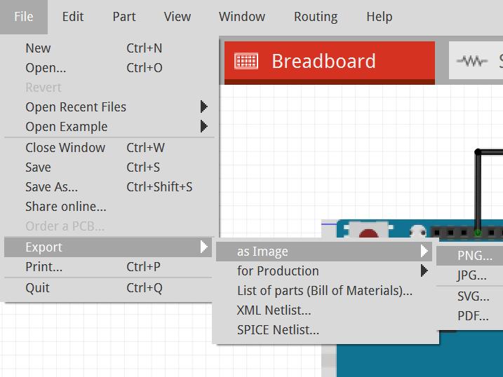 fritzing exporter image