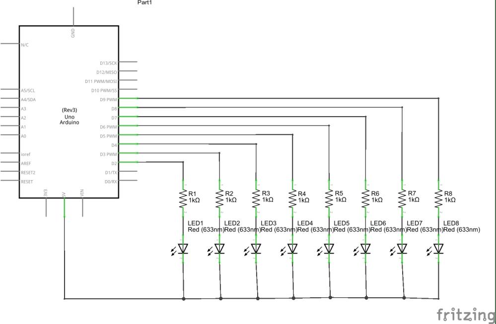 medium resolution of multiple leds schematic