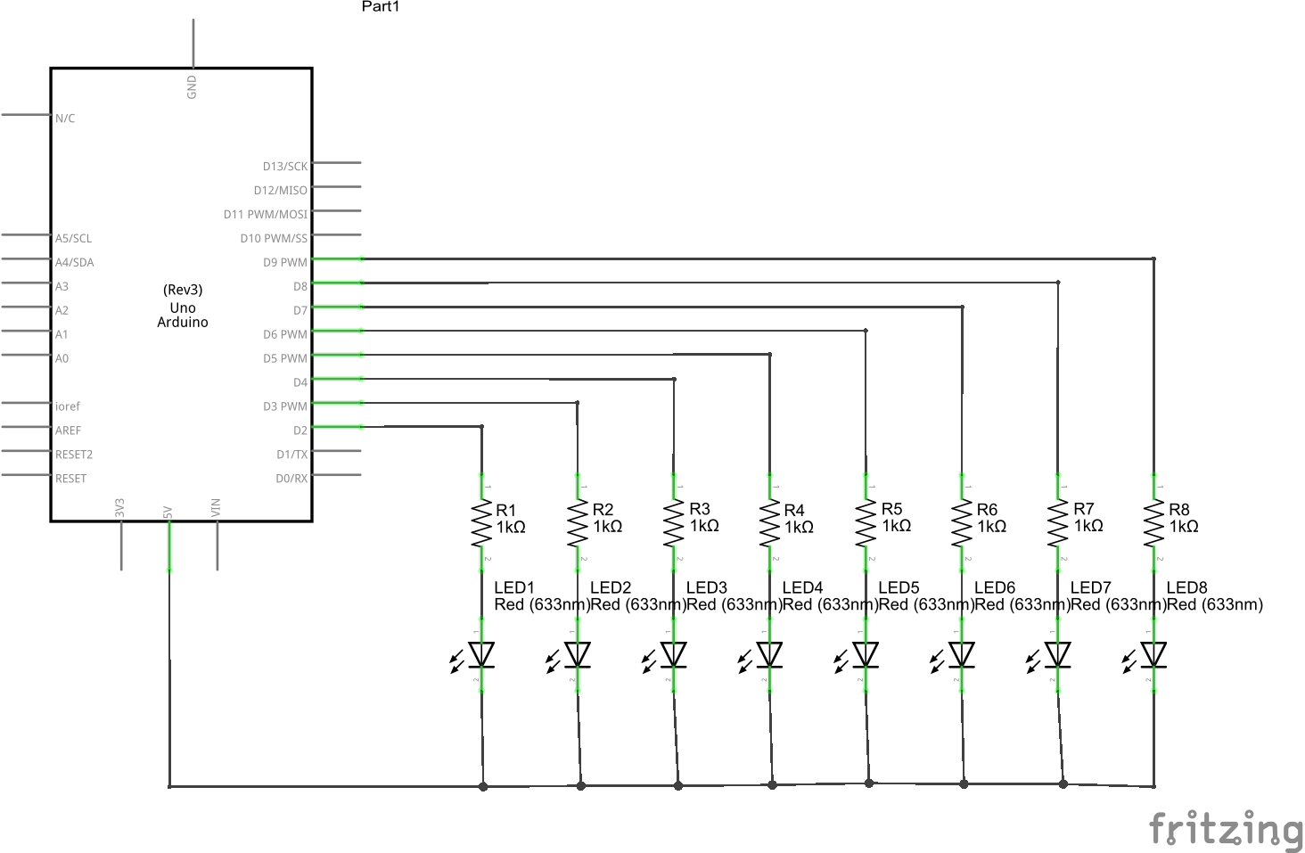 hight resolution of multiple leds schematic