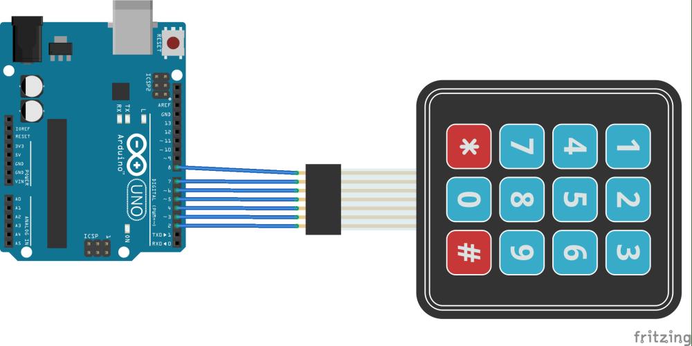 medium resolution of arduino and keypad layout