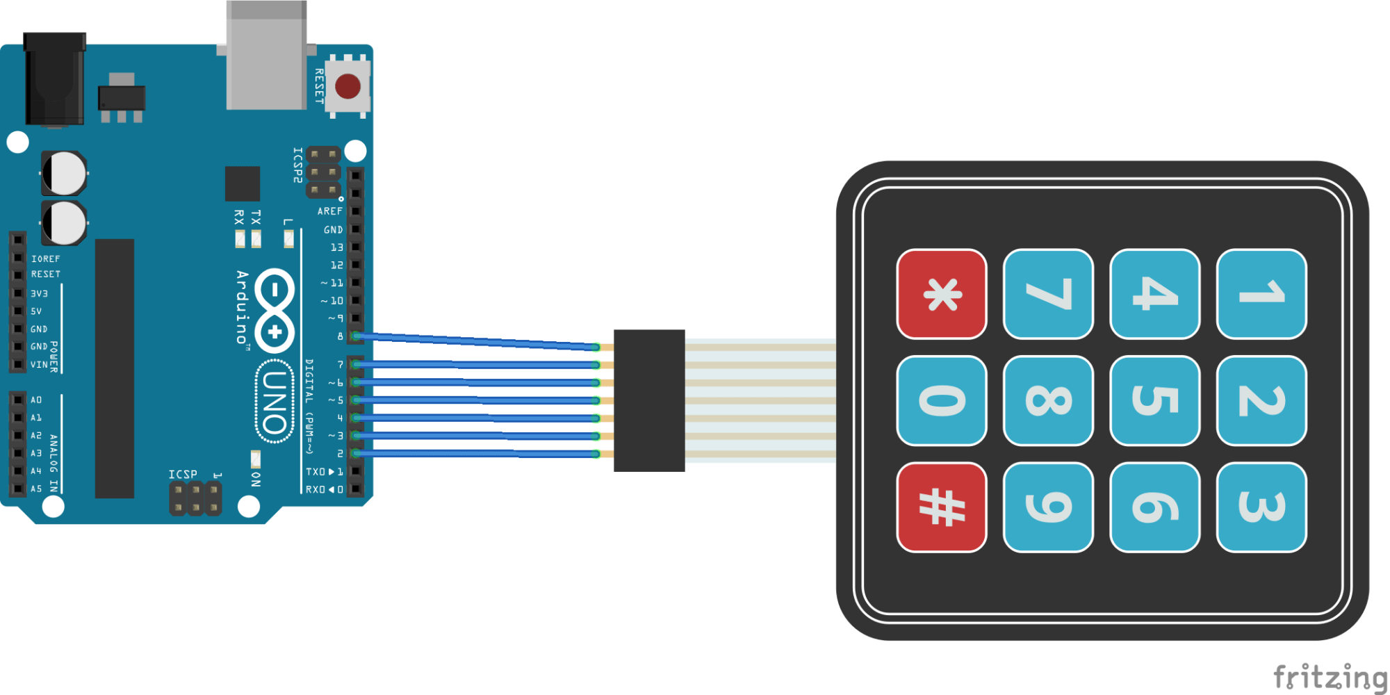 hight resolution of arduino and keypad layout