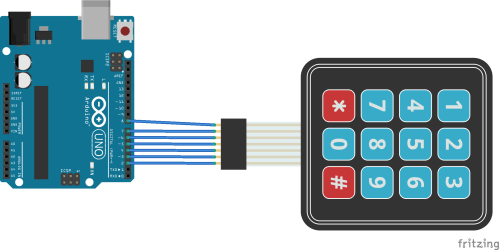 small resolution of arduino and keypad layout