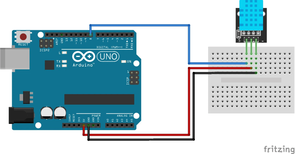 medium resolution of temperature and humidity sensor ky 022 arduino connection diagram click to enlarge