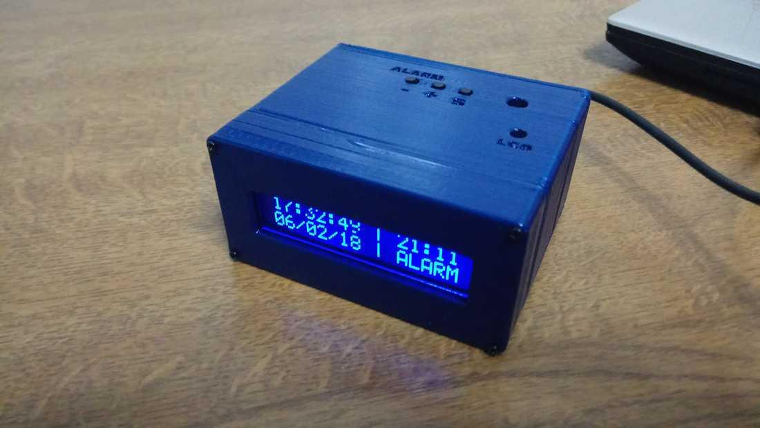 Arduino Digital Clock With Alarm Function
