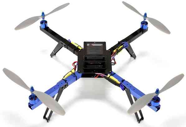 fpvcrazy 3DR-quad-motors-top What is a MultiCopter/Drone and How Does it Work? All Topics Dronebuilds Tech Talks