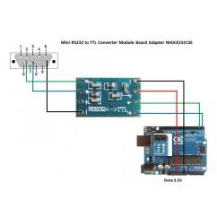 Usb To Serial Port Wiring Diagram How Make A Tree In Word Mcu Mini Rs232 Max3232 Level Ttl Converter Board Module - Ardushop