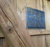 Bicentennial plaque, interior Stonelick bridge