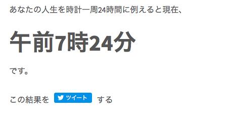 早川の人生時計