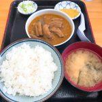 群馬のソウルフード、永井食堂のもつ煮定食