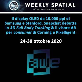 Weekly Spatial 24-30 ottobre 2020