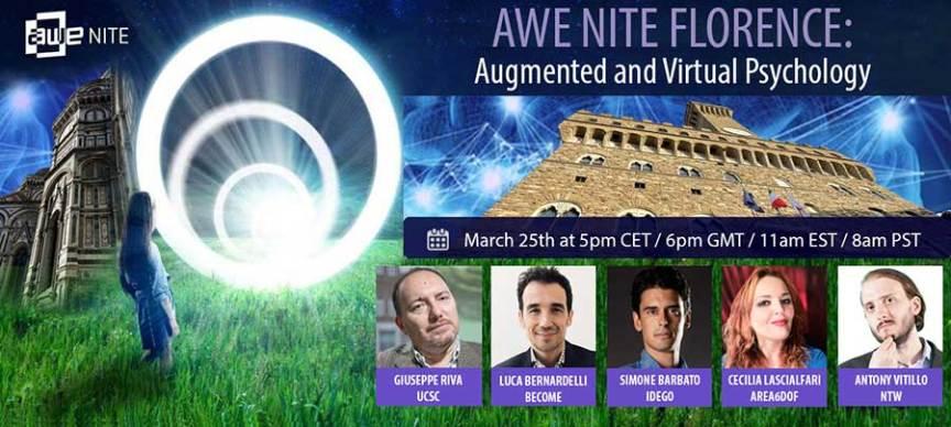 AWE Nite Florence presents Augmented and Virtual Psychology
