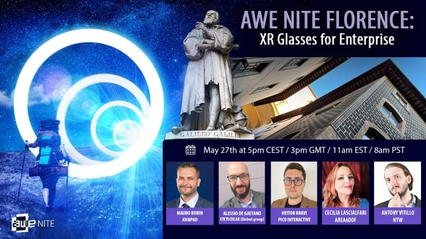 AWE Nite Florence presents XR Glasses for Enterprise