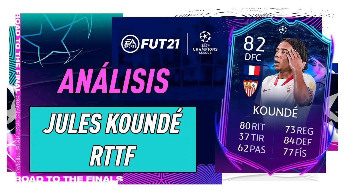He gets a 10 point. FIFA 21: análisis de Jules Koundé RTTF, la carta gratuita ...