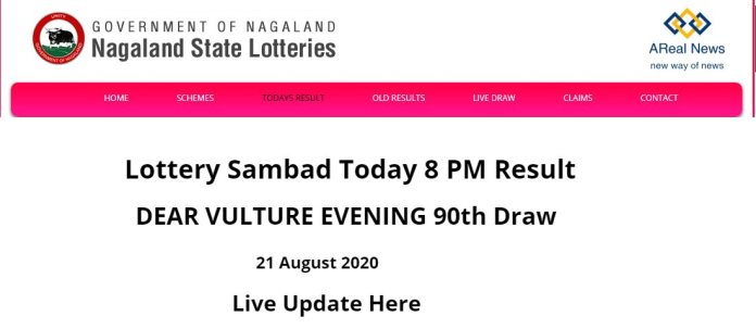 Nagaland State Today Lottery Result DEAR VULTURE EVENING 90th