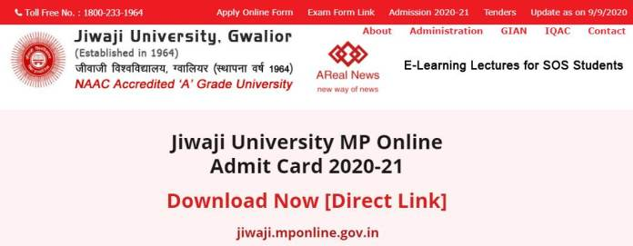 Jiwaji University Admit Card