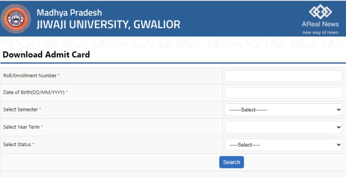 Jiwaji University MP Online Admit Card (1)