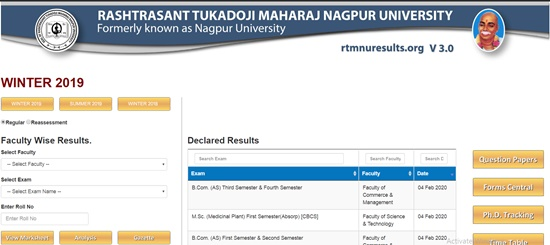 RTM Nagpur University Result