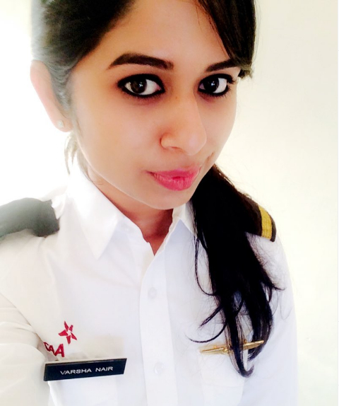 Vaesha Nair Pilot Biography
