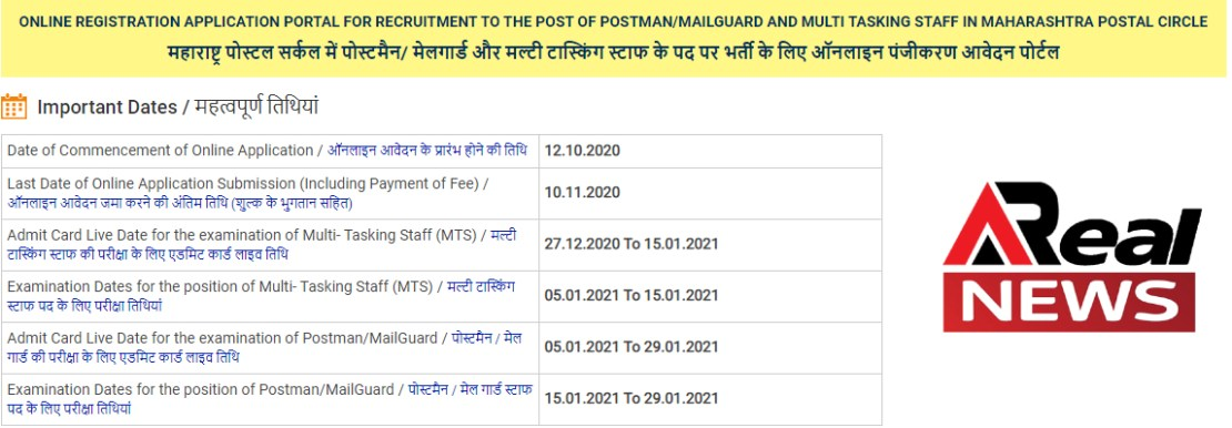 post office admit card 2021