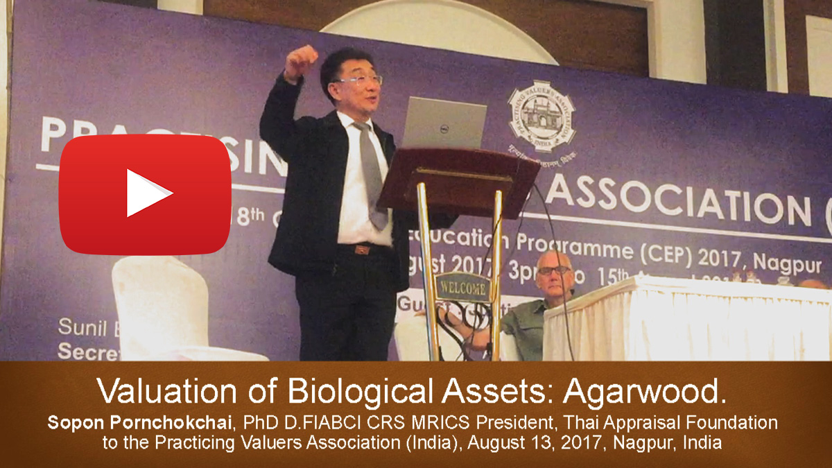 Bio-Asset Valuation: A VDO of Dr Sopon Presented in India