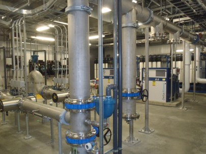 Interior of Chase Water Treatment Plant.