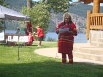 Neskonlith Chief Judy Wilson brings greetings.