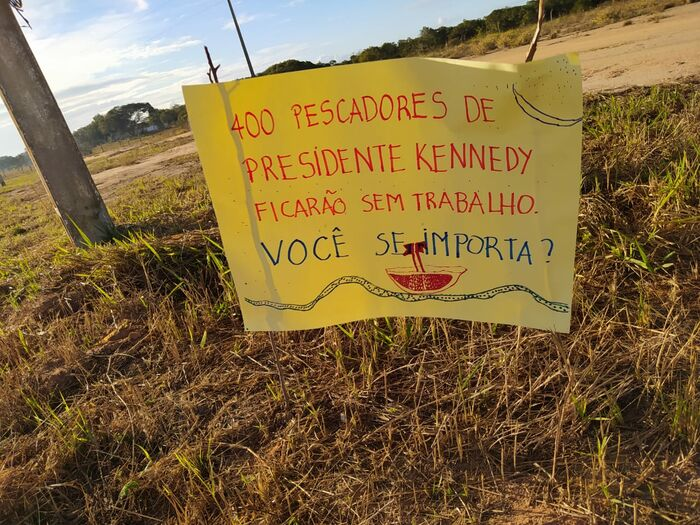 16 -Ato contra a construção do Porto Central, em Presidente Kennedy_ Foto_ divulgação
