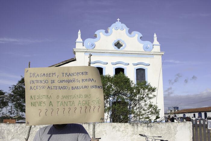 6 - Ato contra a instalação do Porto Central, em Presidente Kennedy (ES)_ Foto_ divulgação