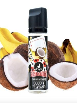 POKER FRUITS DE COCO Y PLATANO   50ML 0MG