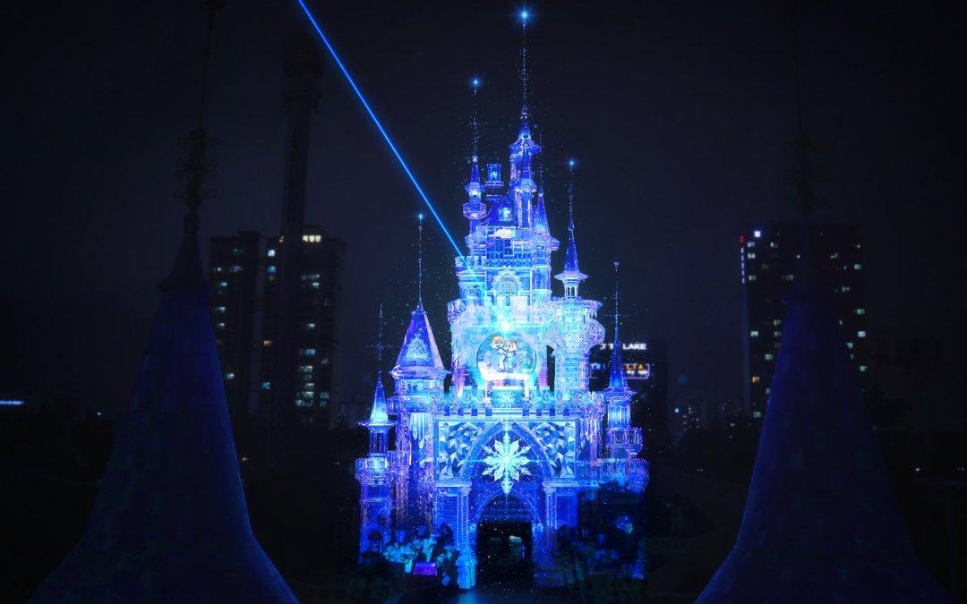 Soluciones Christie iluminan el Castillo Mágico de Lotte World en un gran show de mapping de proyección