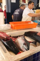 Swordfish in market