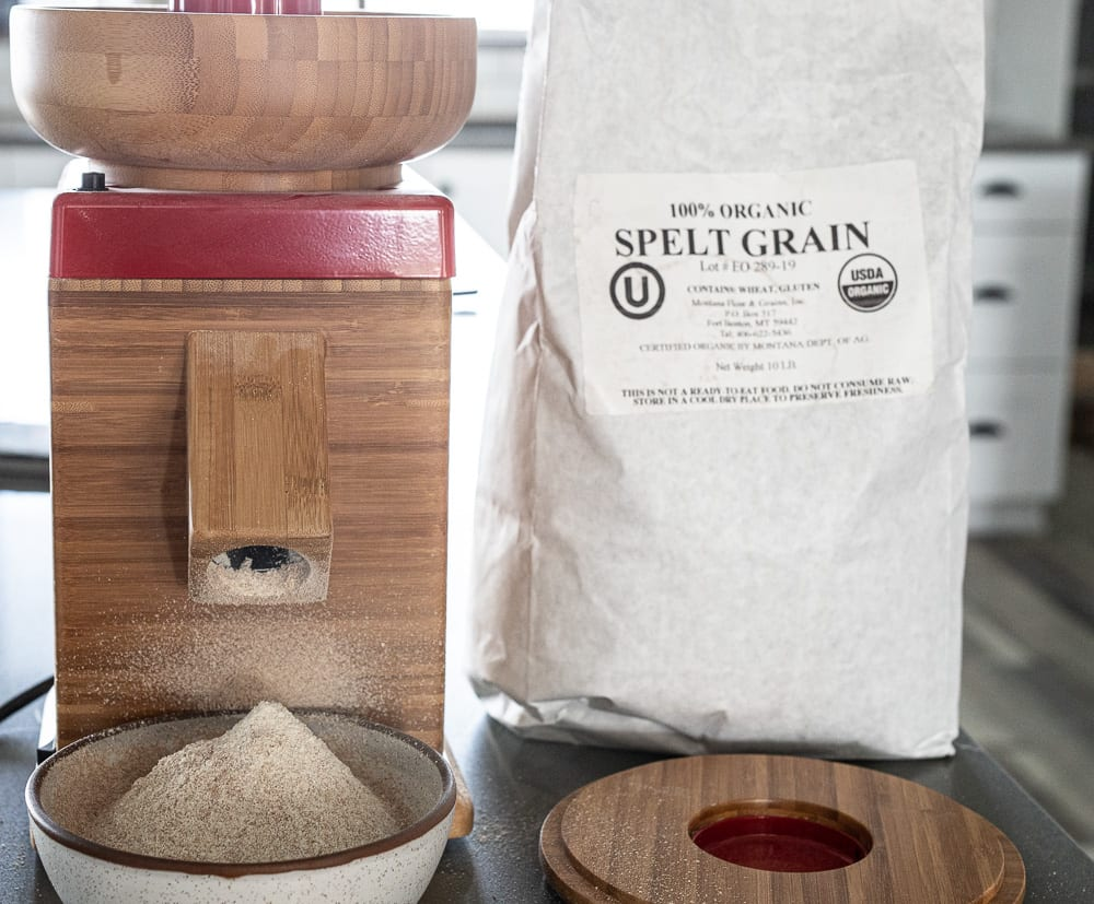 nutrimill grain mill and spelt flour