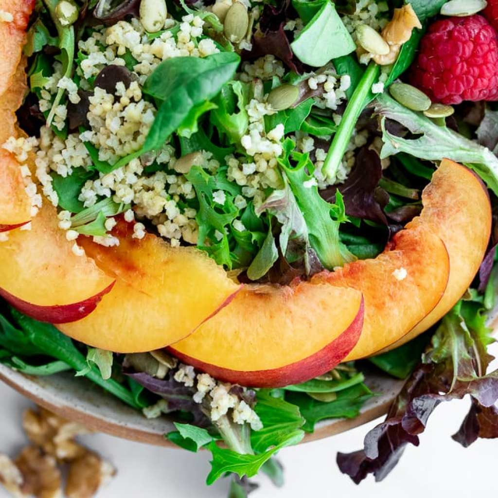 Healthy Raspberry and Nectarine Millet Salad