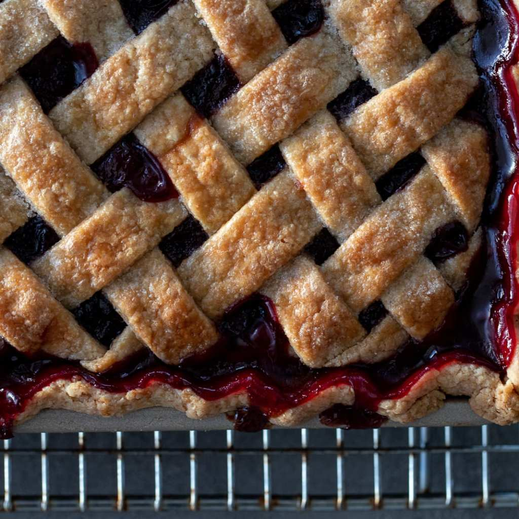 Beautiful Cherry Slab Pie
