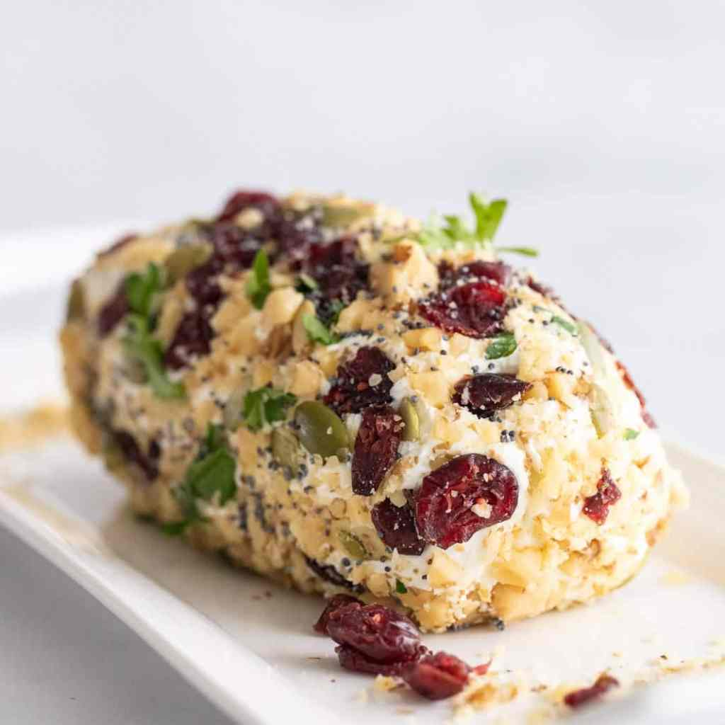 Goat Cheese log with fruit and nuts