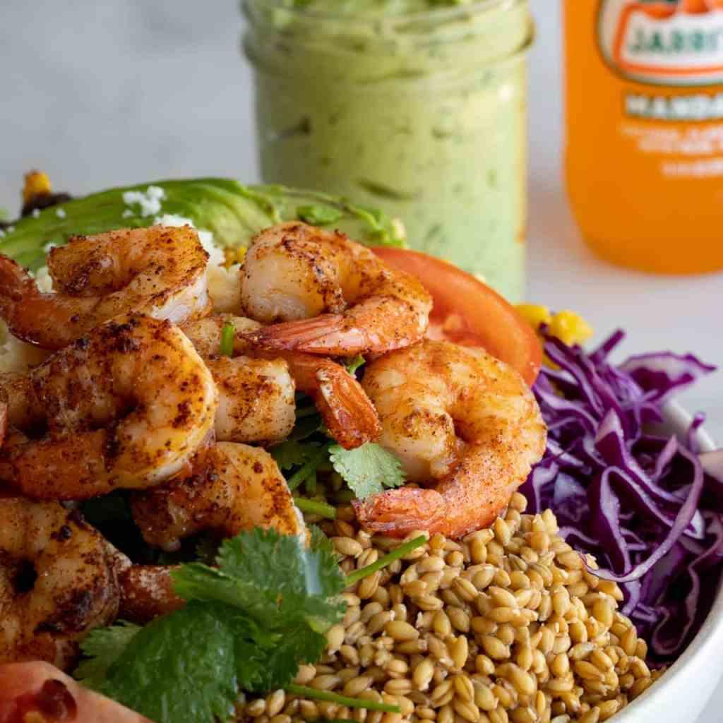 Spicy Shrimp Buddha Bowl