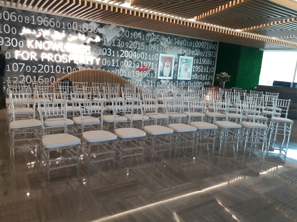 plastic chiavari chair knoll conference room chairs clear acrylic for rent or sale within dubai