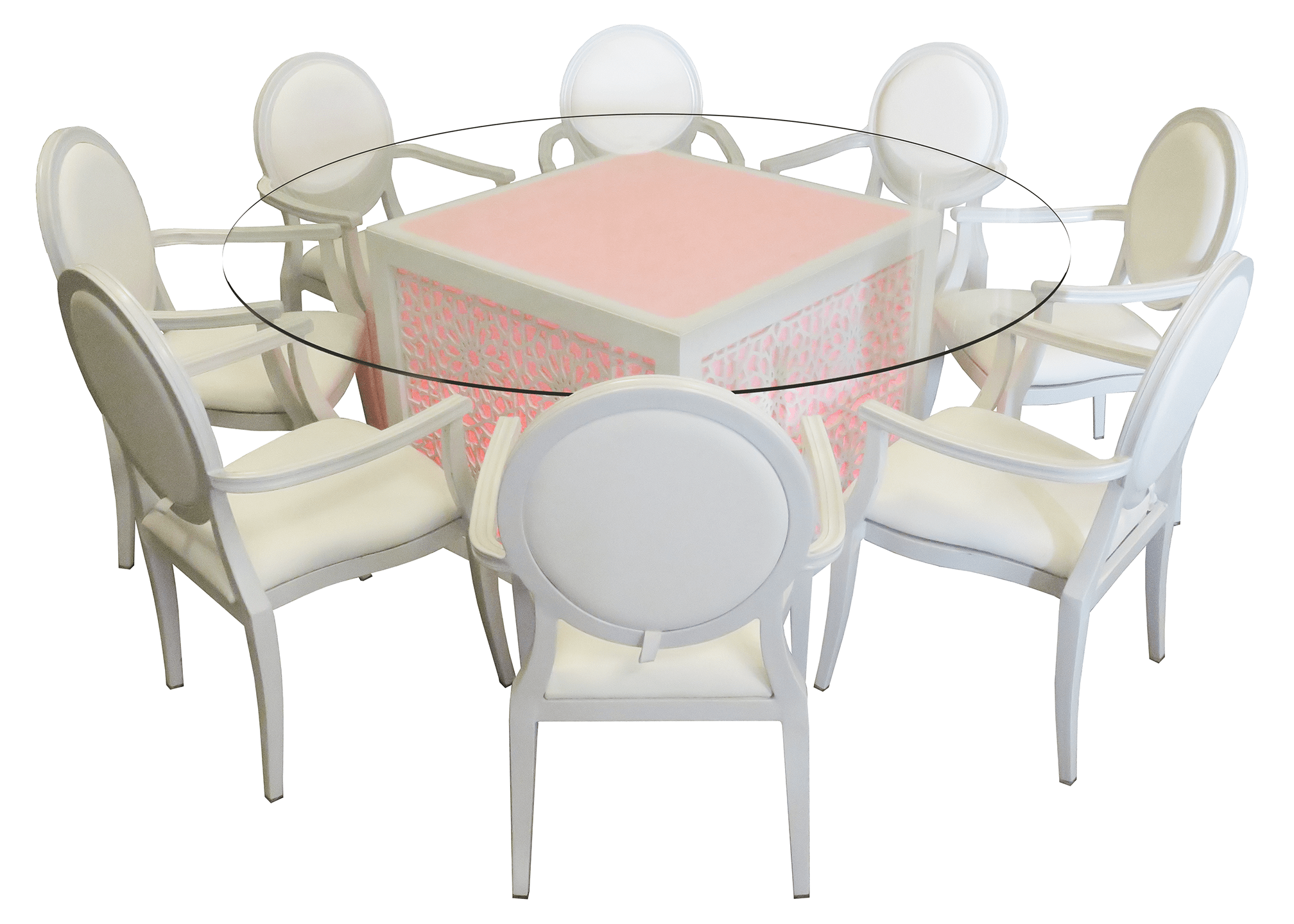 chair covers for sale in dubai game of throne rent or buy mashrabiya round glass dining table event