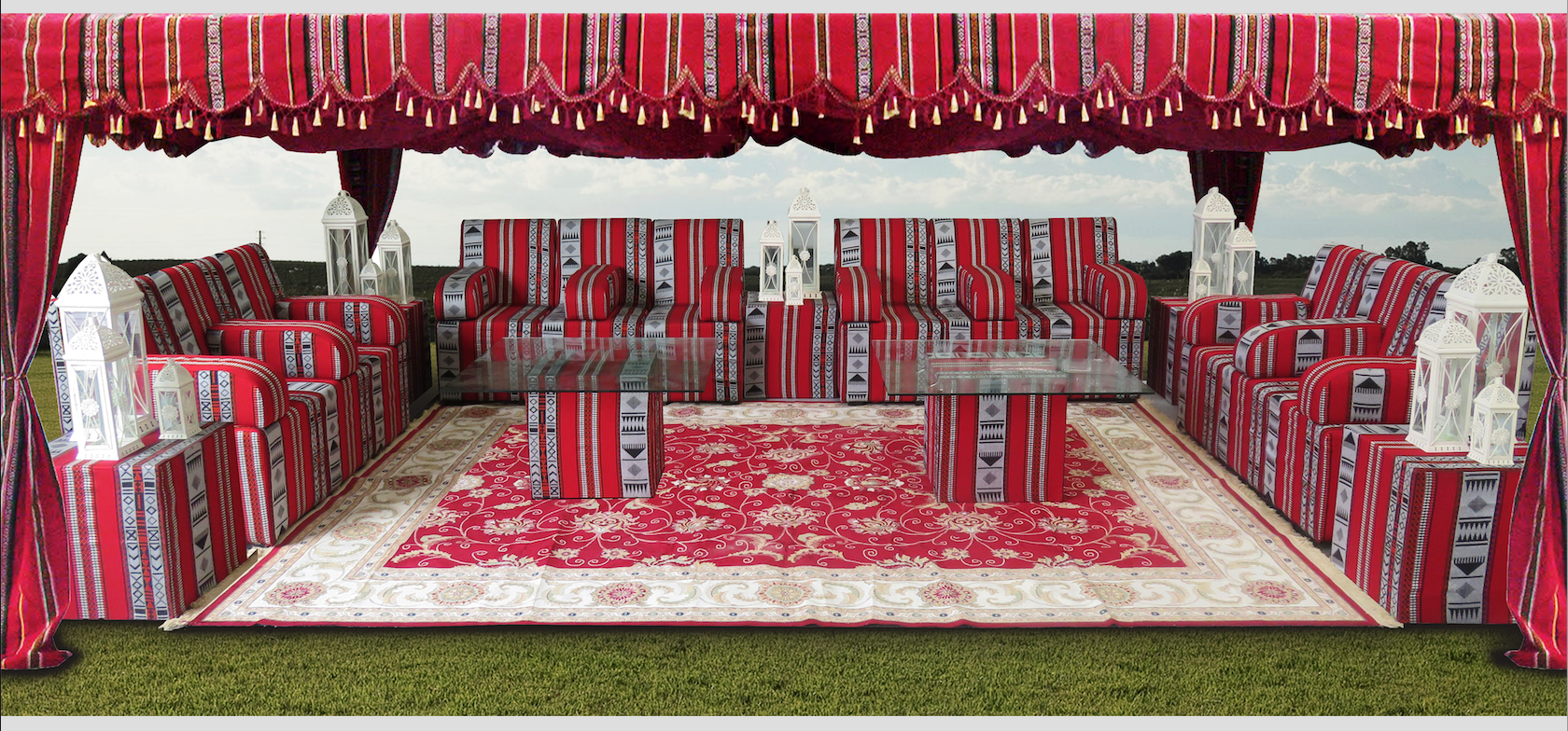 3 seater sofa cover beds made in melbourne rent or buy arabic tent | event rental dubai & uae ...