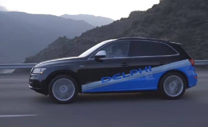 Delphi self-driving cars